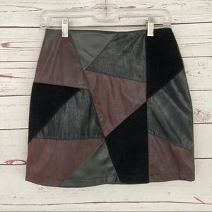 B. B. Collections Mini Skirt Patchwork
